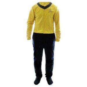 NWT Mens Star Trek Union Suit Pajamas Kirk Costume